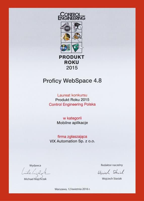Produkt Roku Proficy Webspace